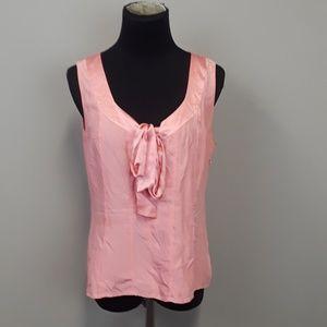 Banana Republic 100% silk pink blouse size M